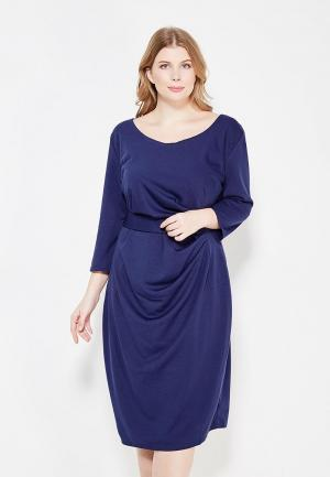 Платье Goddiva Size Plus GO015EWXRA66. Цвет: синий