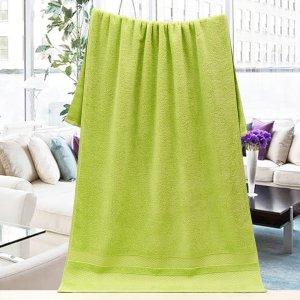 Ванное полотенце Однотонный SHEIN. Цвет: зелёный