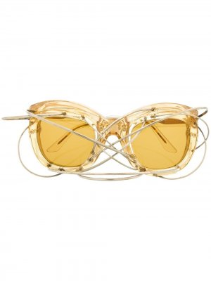 Солнцезащитные очки Mask B2 Interstellar Kuboraum. Цвет: желтый