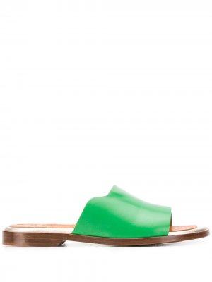 Шлепанцы Wekuma с закругленным носком Chie Mihara. Цвет: зеленый