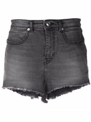 Джинсовые шорты Linny с завышенной талией IRO. Цвет: серый