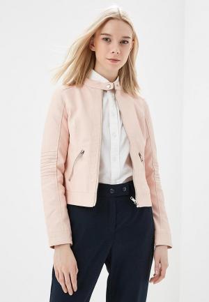 Куртка кожаная Z-Design ZD002EWATPX2. Цвет: розовый