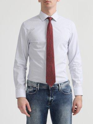 Мужской галстук из шелка Cerruti 1881. Цвет: krasnyy