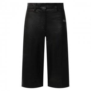 Кожаные шорты Off-White. Цвет: чёрный