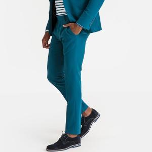 Брюки костюмные узкие укороченные LA REDOUTE COLLECTIONS. Цвет: синий