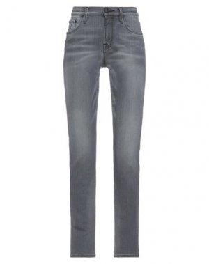Джинсовые брюки JACOB COHЁN. Цвет: серый