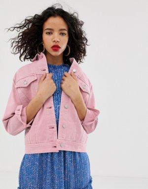 Oversize джинсовая куртка -Фиолетовый Vero Moda