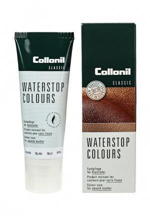 Крем для обуви Collonil Waterstop Colours, синий, гладкой кожи, 75 мл.. Цвет: синий
