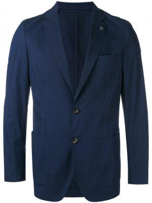 Джинсовый пиджак Michael Kors. Цвет: синий