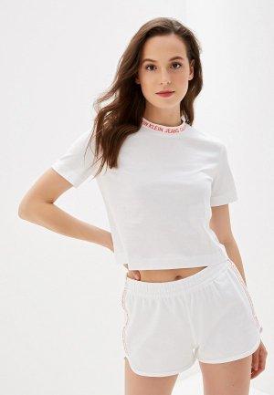 Футболка Calvin Klein Jeans. Цвет: белый