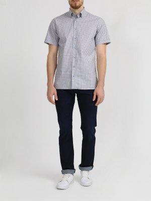 Хлопковая рубашка с коротким рукавом Ritter. Цвет: siniy