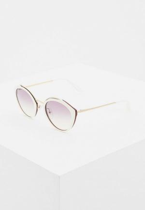 Очки солнцезащитные Prada PR 18US YNC226. Цвет: белый