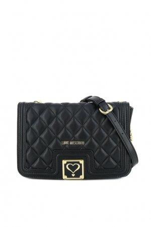 Черная сумка с фактурной отделкой Love Moschino. Цвет: черный