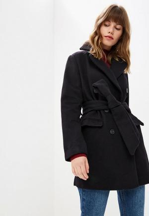 Пальто Lost Ink BELTED DB COAT. Цвет: черный