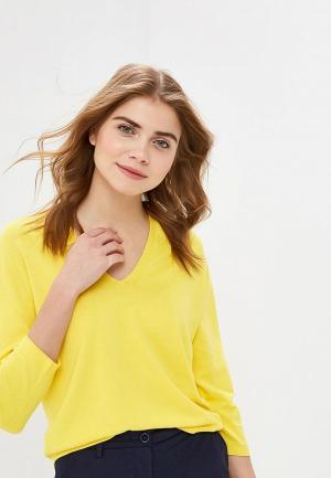 Пуловер United Colors of Benetton. Цвет: желтый