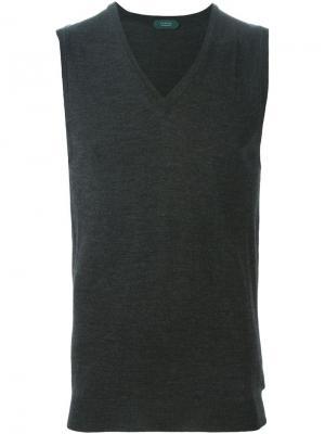 Вязаный жилет Zanone. Цвет: серый