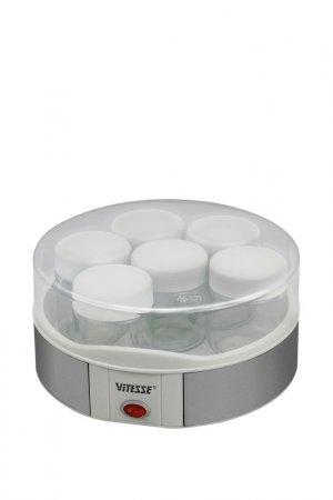Йогуртница Vitesse. Цвет: белый, серый