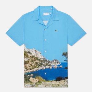 Мужская рубашка Hawaiian Print Lacoste. Цвет: голубой