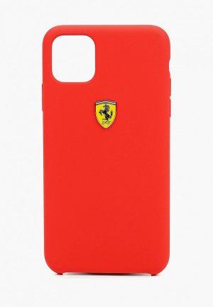 Чехол для iPhone Ferrari 11 Pro Max, On-Track Silicone case Red. Цвет: красный