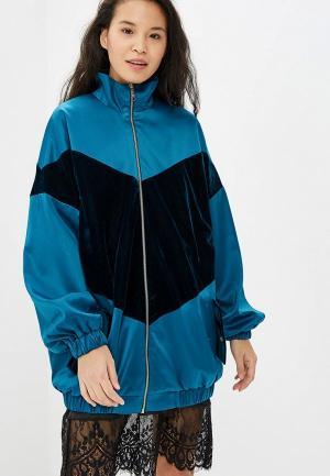 Куртка Elena Andriadi. Цвет: бирюзовый