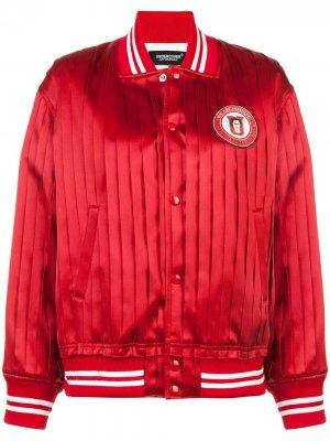 Куртка-бомбер с плиссировкой Undercover. Цвет: красный