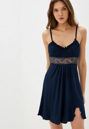 Сорочка ночная Arloni. Цвет: синий