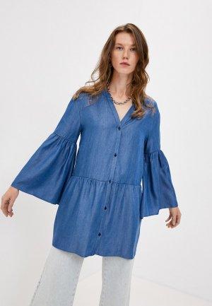 Платье Trussardi Jeans. Цвет: синий