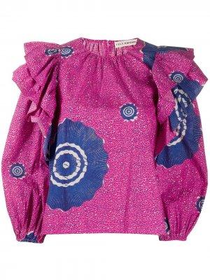 Блузка Caasi с принтом Ulla Johnson. Цвет: розовый