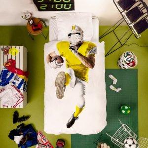 Пододеяльник и наволочка с 3D принтом спортсмен SHEIN. Цвет: многоцветный