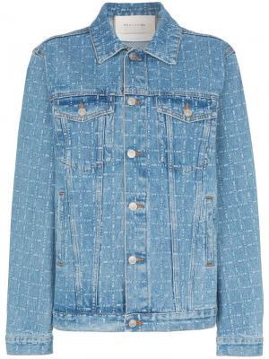 Джинсовая куртка с принтом логотипов 1017 ALYX 9SM. Цвет: синий