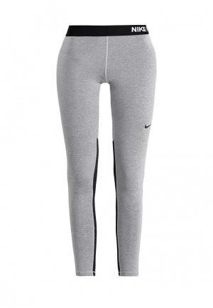Тайтсы Nike W NP WM TGHT. Цвет: серый