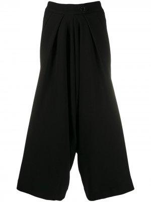 Широкие брюки с завышенной талией Petar Petrov. Цвет: черный
