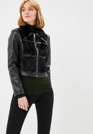 Куртка кожаная Silvian Heach SI386EWCSWM7. Цвет: черный