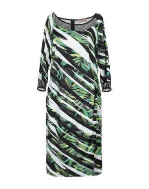 Платье до колена COCCAPANI TREND. Цвет: зеленый