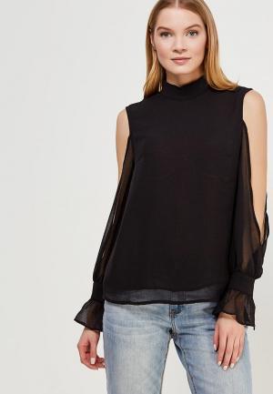 Блуза LOST INK EXTREME COLD SHOULDER BLOUSE. Цвет: черный