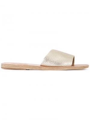 Шлепанцы Taygete Ancient Greek Sandals. Цвет: золотистый