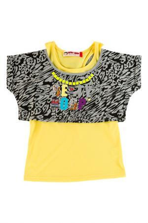 Футболка Betty Boop. Цвет: серый