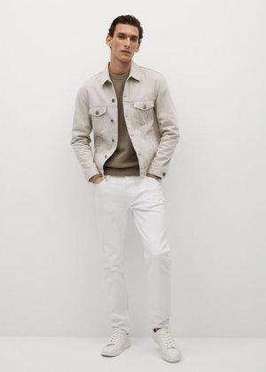 Джинсовая куртка бежевого цвета - Ryan Mango. Цвет: бежевый