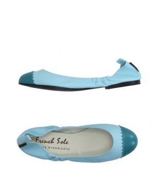 Балетки FRENCH SOLE. Цвет: небесно-голубой