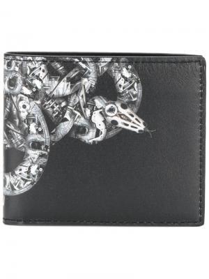 Бумажник с вышивкой Marcelo Burlon County Of Milan. Цвет: чёрный