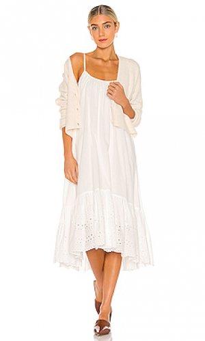 Платье paola ALLSAINTS. Цвет: белый