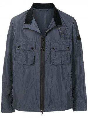 Куртка с нагрудными карманами Barbour. Цвет: синий