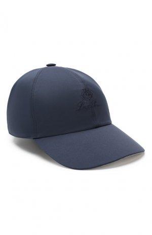 Текстильная бейсболка Loro Piana. Цвет: темно-синий