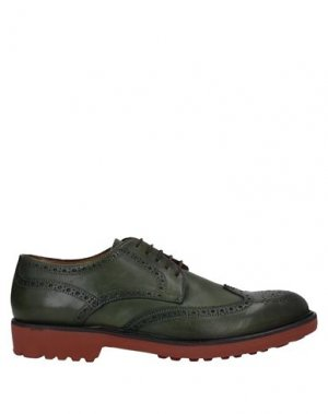 Обувь на шнурках ANGELO NARDELLI. Цвет: зеленый-милитари
