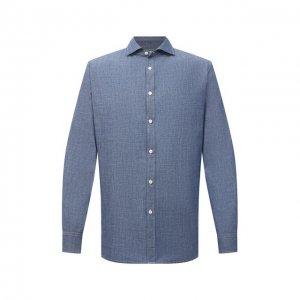 Хлопковая рубашка Jacob Cohen. Цвет: голубой