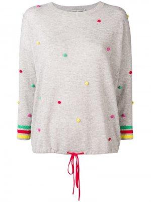 Кашемировый джемпер с помпонами Autumn Cashmere. Цвет: серый