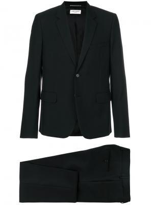 Официальный костюм-двойка Saint Laurent. Цвет: черный