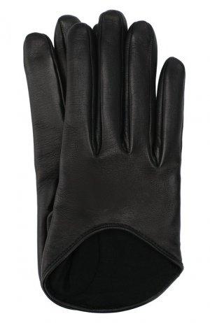 Кожаные перчатки Balenciaga. Цвет: чёрный