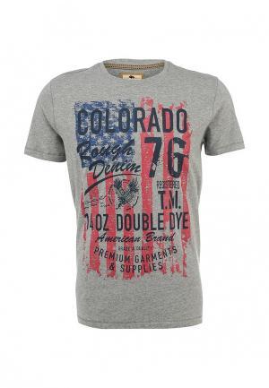 Футболка Colorado Jeans. Цвет: серый