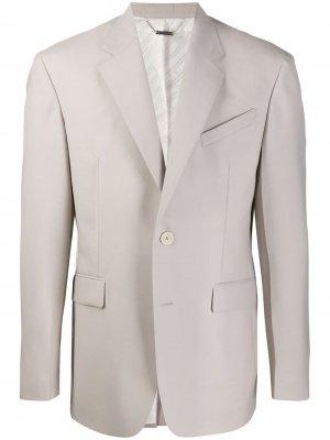 Однобортный пиджак строгого кроя Givenchy. Цвет: серый